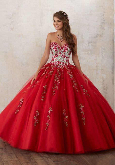 vestido rojo de 15 anos para morens (5)