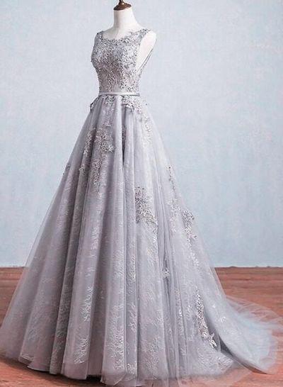 vestido xv anos color gris para morena clara (2)