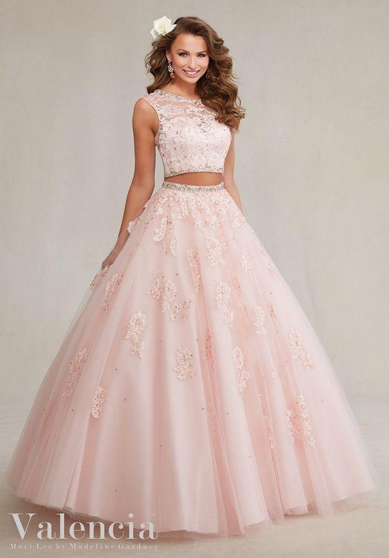 Tendencia-en-vestido-quinceanera-2018-rosa palo