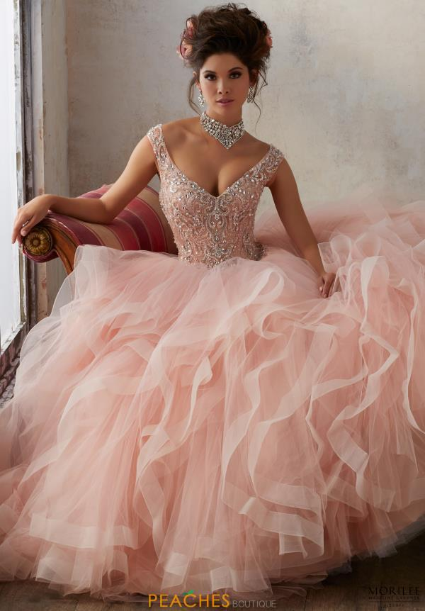 Vestidos de quinceañera color rosa palo