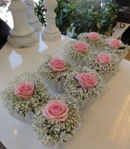 decoracion de centros de mesa para 15 años sencillos