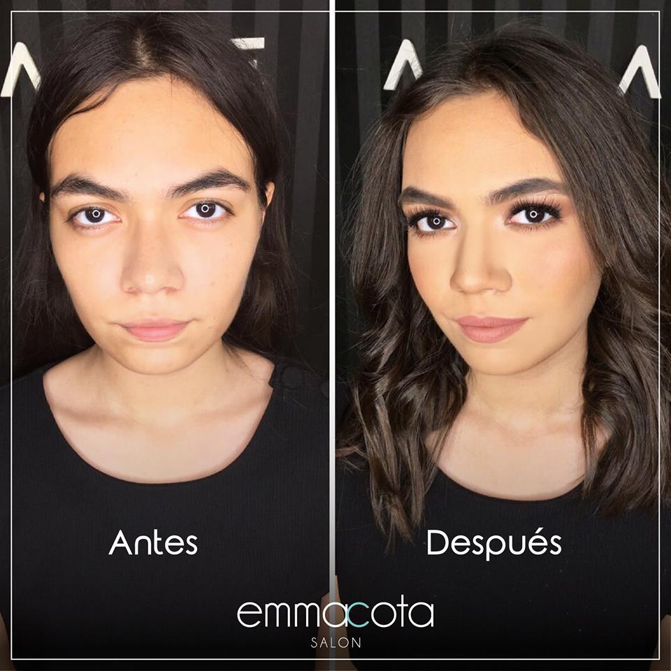 Hacer pruebas de maquillaje antes de tus quince años