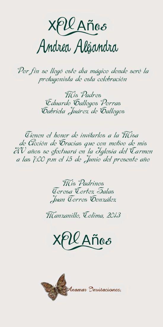 Frases O Poemas Para Invitaciones De 15 Años De 100