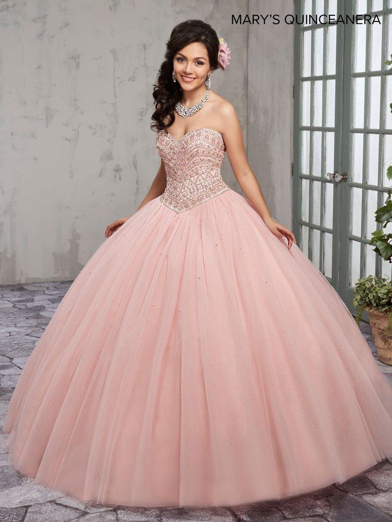 Vestidos de XV color rosa palo | Diseños de vestidos 2018 ...