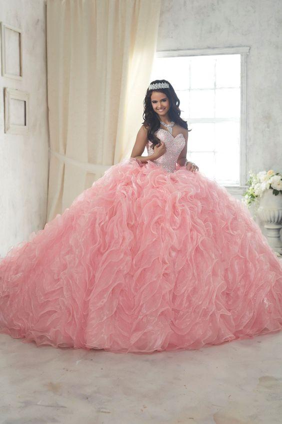 4834c06a2 Vestidos de XV color rosa palo