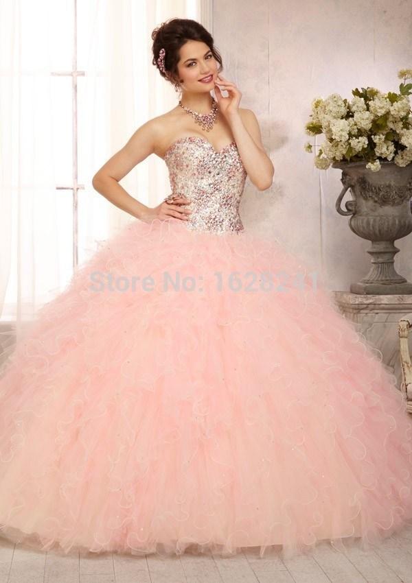 Vestidos de XV color rosa palo | Diseños de vestidos 2018 - 2018