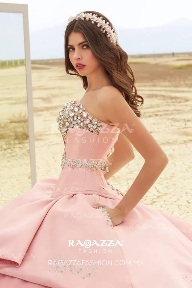 vestidos de xv color rosa palo