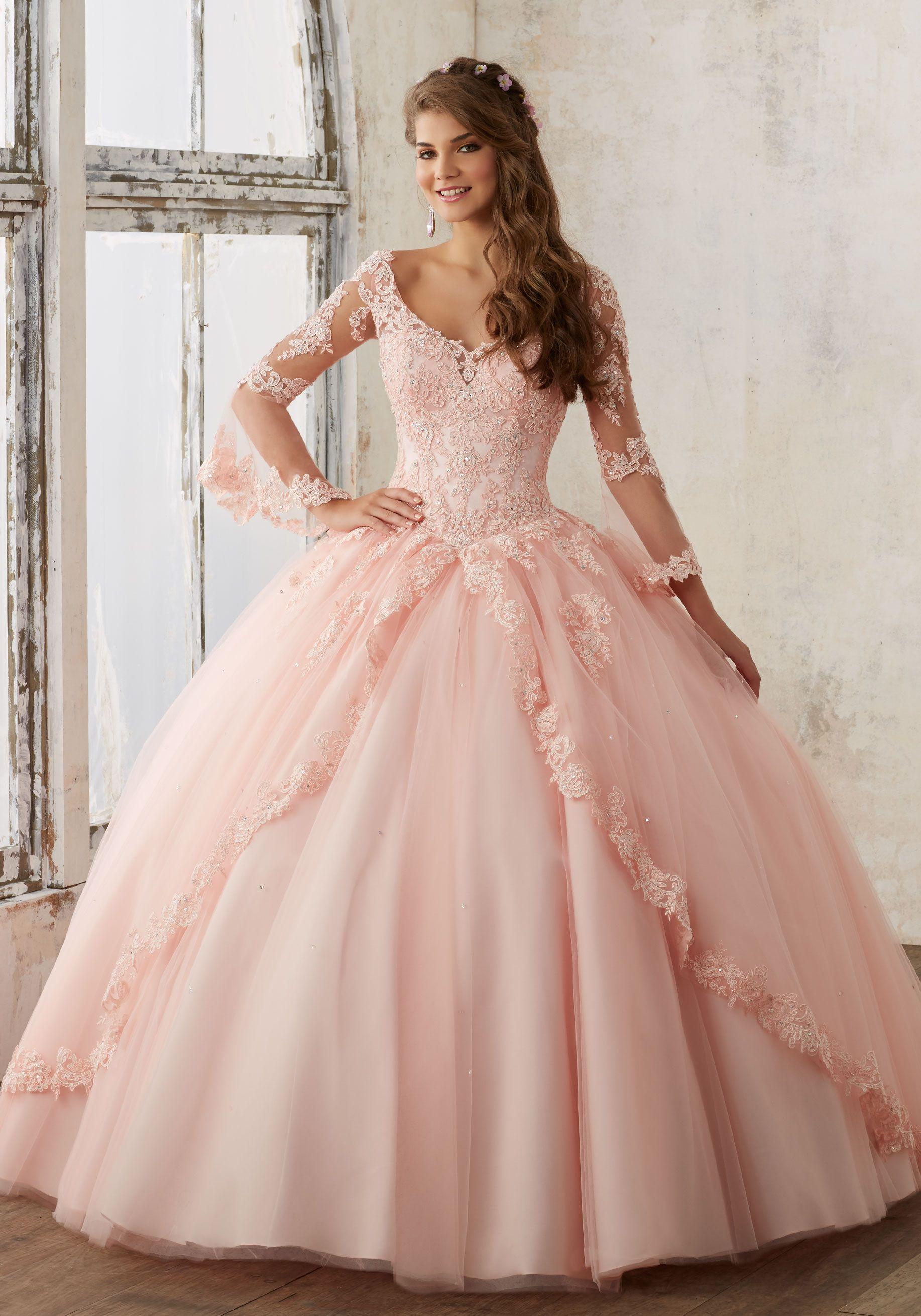 vestidos de xv color rosa palo (7)