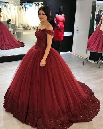 Vestidos para 15 años color Marsala elegantes