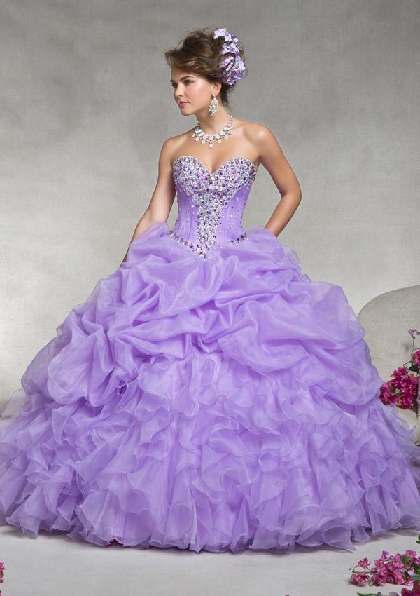 74df00405 Vestidos para 15 color lila morado o lavanda de moda