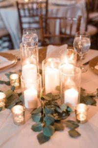Centros de mesa para 15 años con velas
