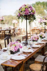 Centros de mesa para xv años con flores
