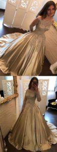 imagenes de vestidos de xv anos dorados (4)