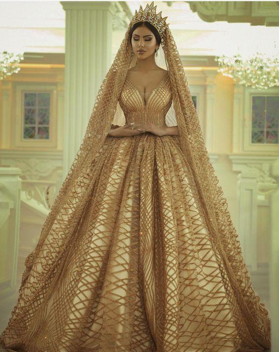 vestidos de 15 anos dorados 2017 (1)
