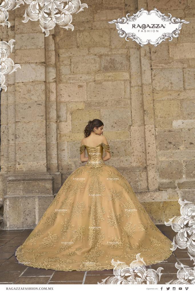 vestidos de 15 color dorado (10)