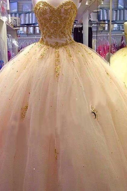 vestidos de 15 color dorado (8)