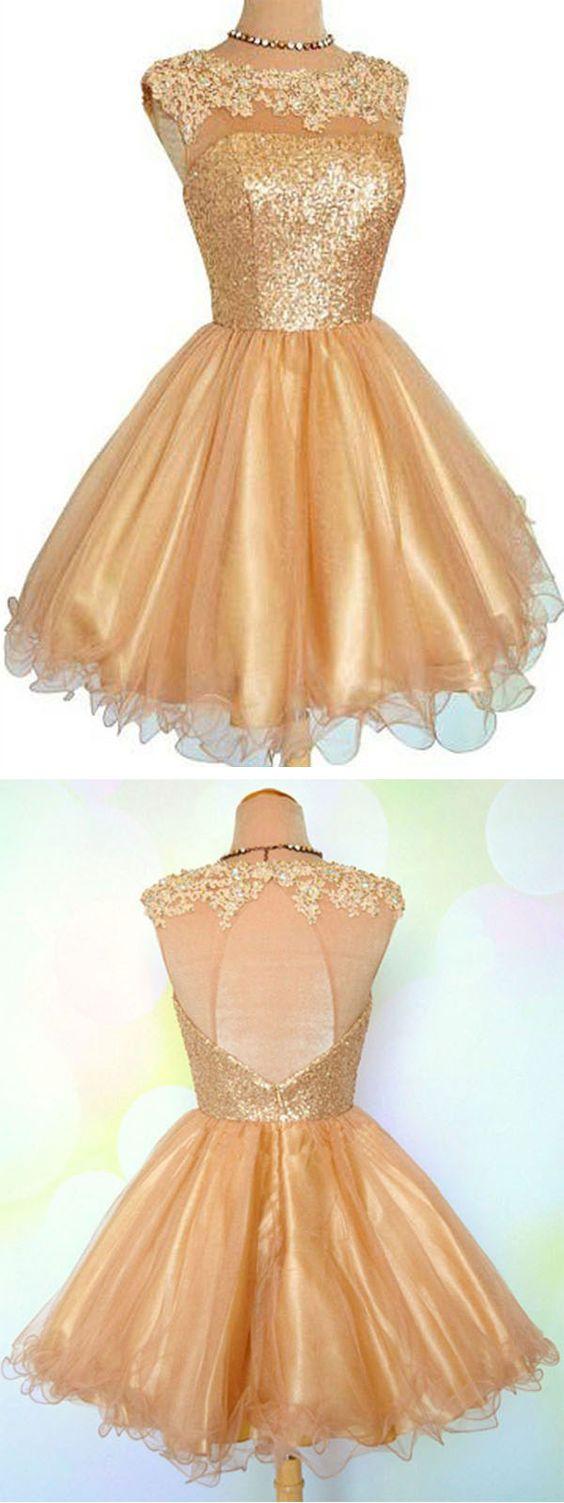 vestidos de 15 dorados cortos (1)