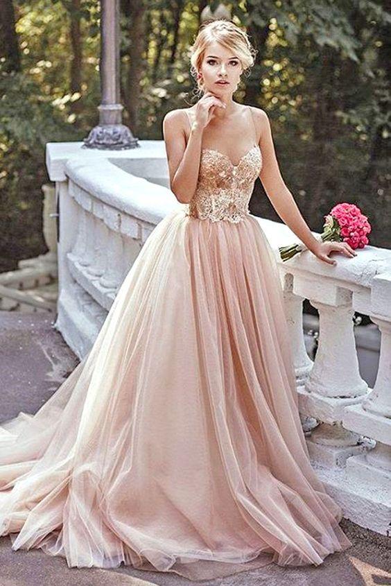 vestidos de xv color dorado con rosa (1)