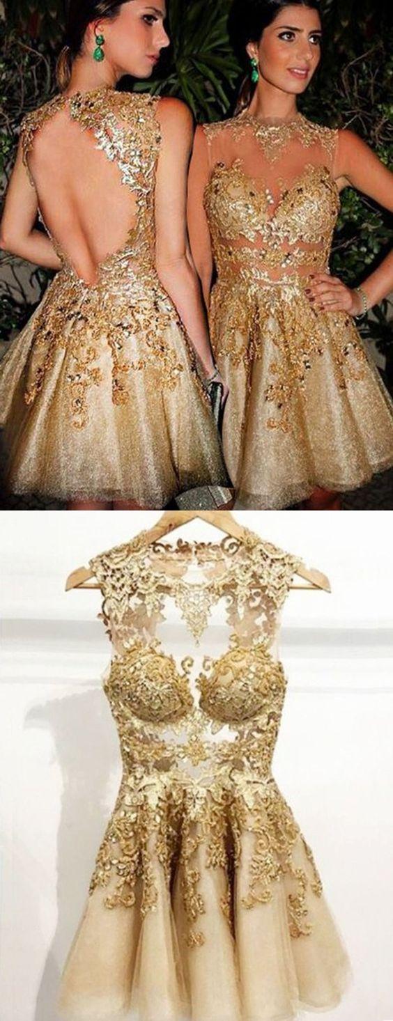 Vestidos para 15 años dorados