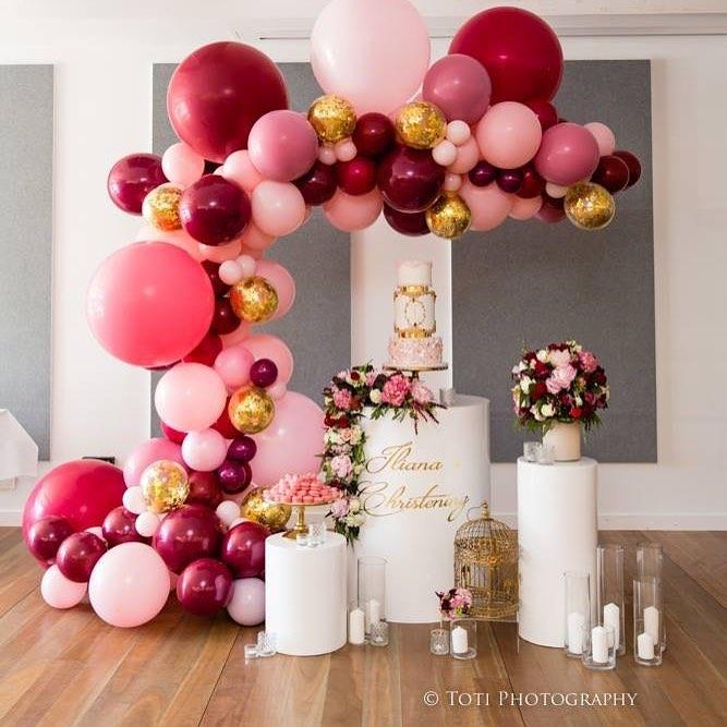 Arcos de globos organicos para 15 a os 1 ideas para for Globos para quince anos