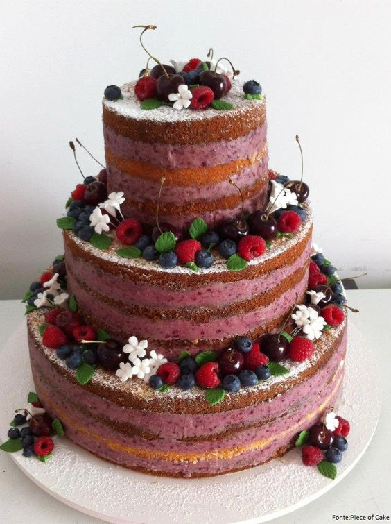 ¿Como decorar un naked cake?