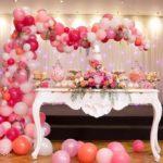 Guirnaldas con globos para 15 años
