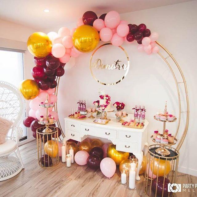 como decorar una fiesta de 15 años con globos (3)
