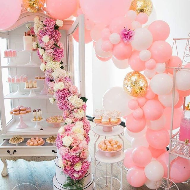 Guirnaldas con globos parar 15 a os tendencia 2018 50 for Ideas para decorar fiestas de 15
