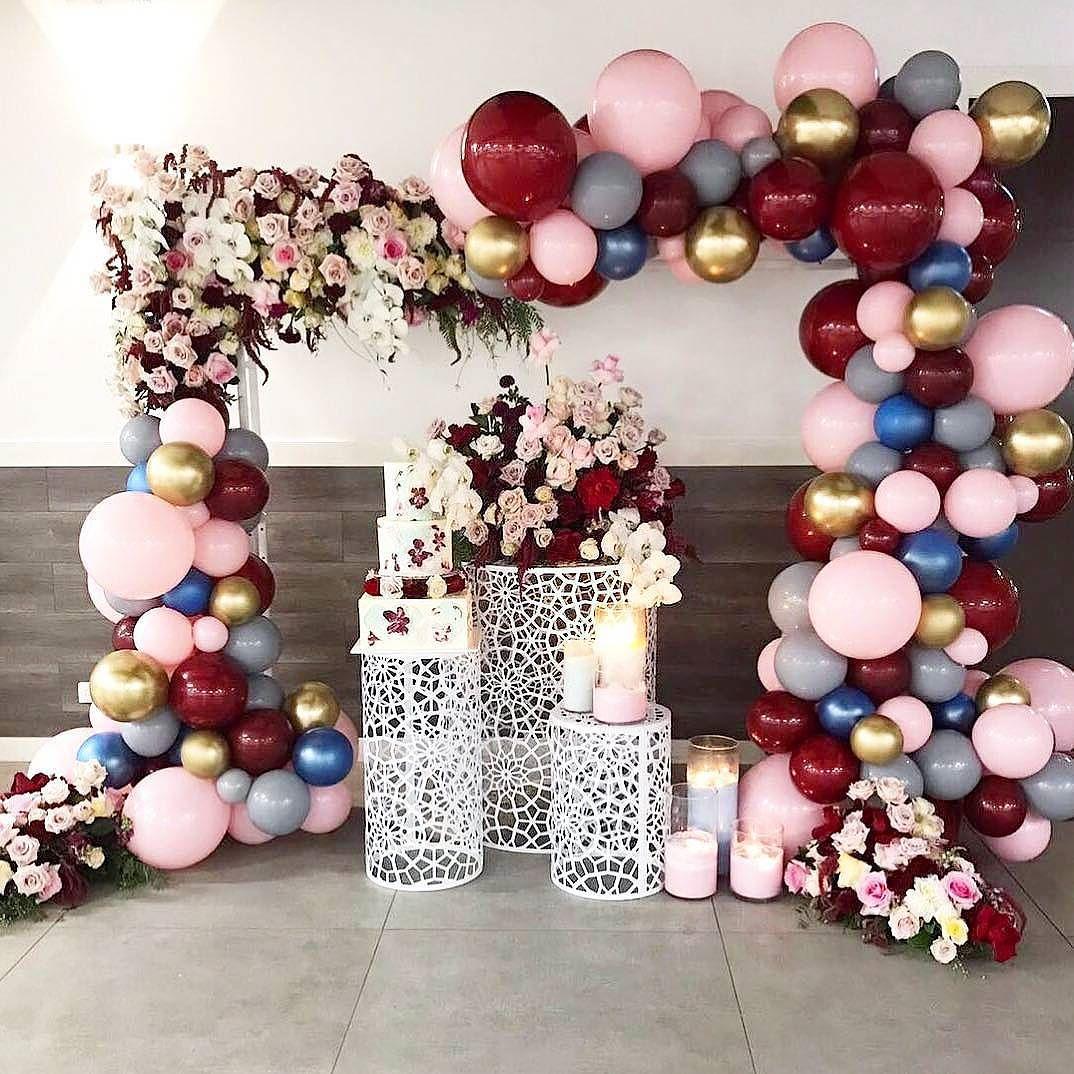 decoracion con globos para fiesta de 15 años