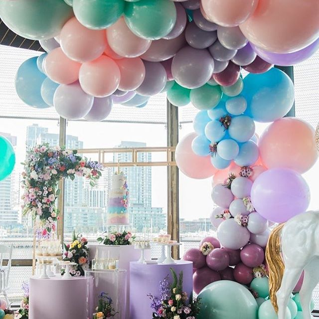 guirnaldas con globos para 15 años (1)
