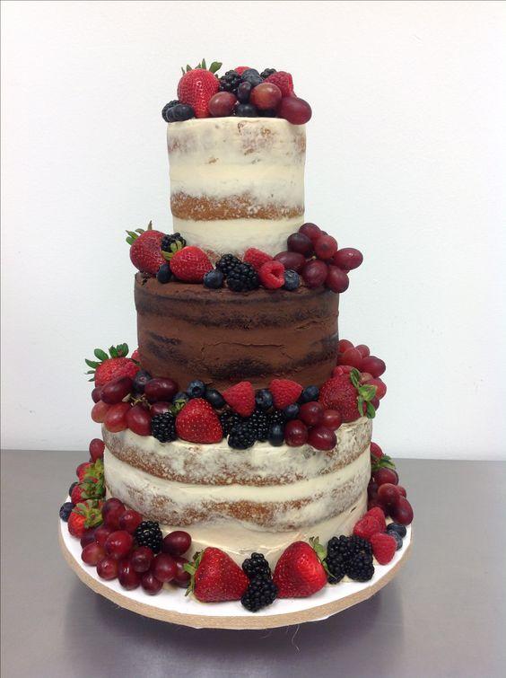 Naked cake con fruta