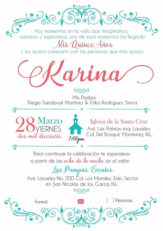 Formato De Invitaciones Saves Wpart Co