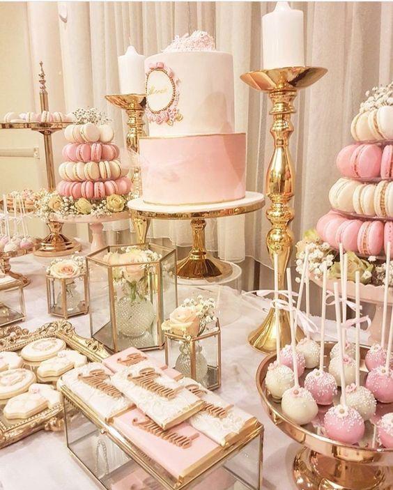 cake pops para mesa de 15 años