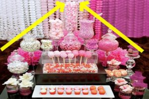 como montar un candy buffet para 15 con cup cakes