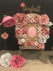 mesa de dulces color rosa blush