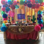 mesa de dulces estilo mexicana para quince
