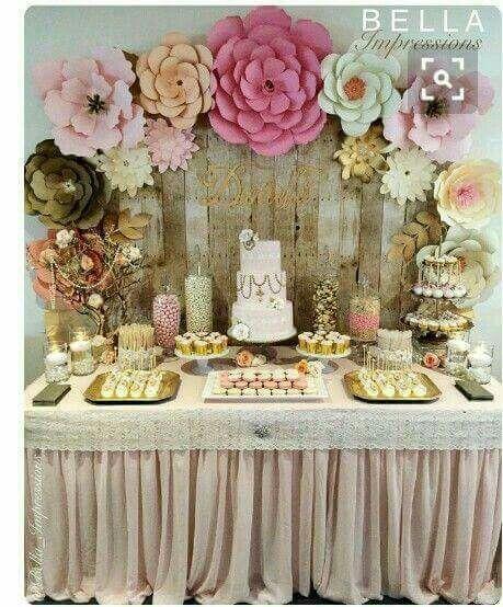 mesa de quince años floral