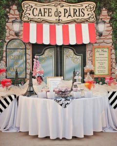 mesa para dulces de 15 estilo paris