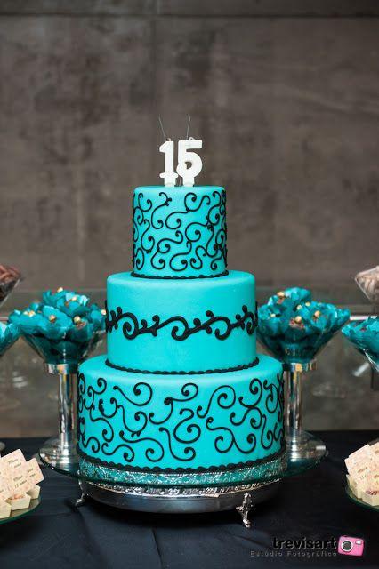 pasteles de 15 años en azul