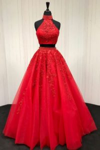 vestido de 15 años colo rojo desmontables