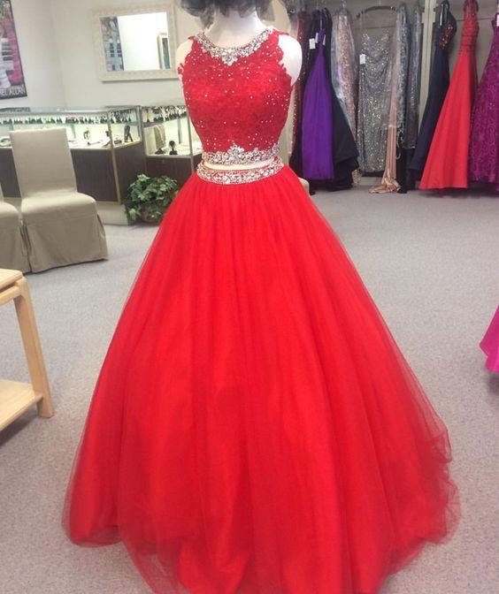 dc2cdd81c vestido de 15 años colo rojo desmontables