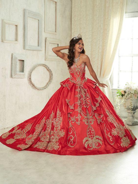 05f5cf61fb ... vestido de 15 años color rojo modernos