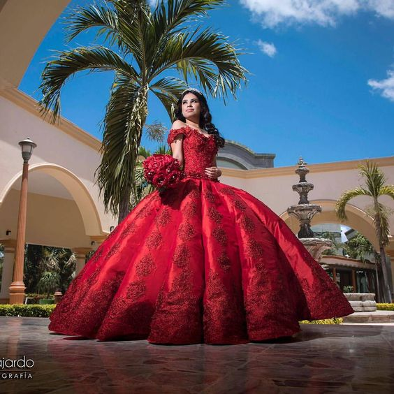 Dresses Of 15 Years Red With 50 Avant Garde Designs