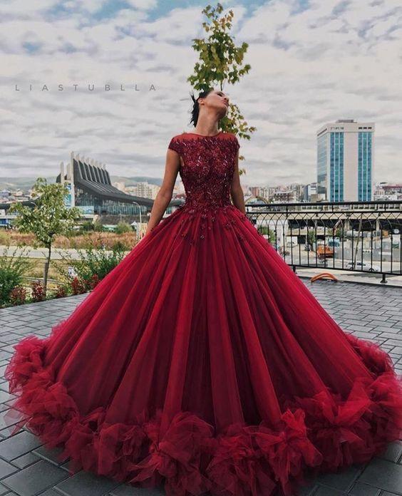740de06d8 vestido de 15 años color rojo pasion