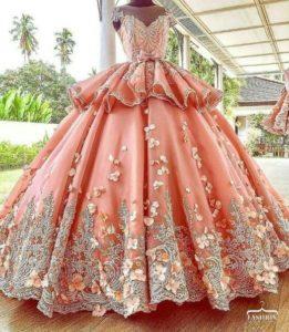vestidos ampones para xv años