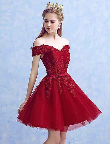 vestidos de 15 años color rojo cortos