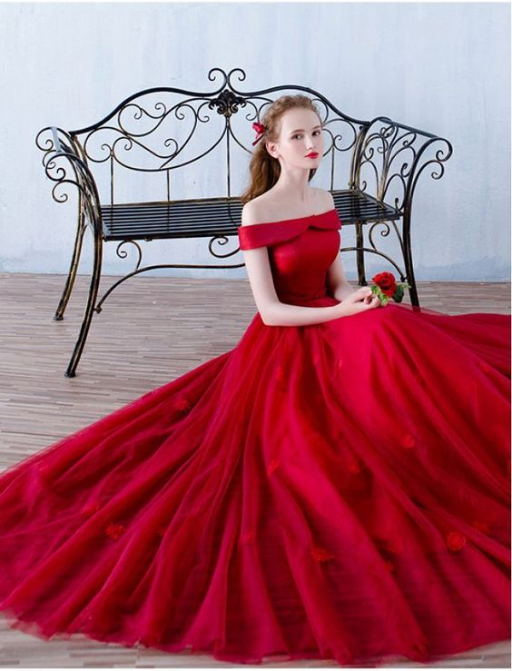 vestidos de 15 años color rojo largos