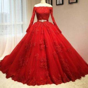 vestidos de 15 años rojo con plateado