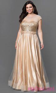 vestidos para madrinas de 15 años gorditas dorado