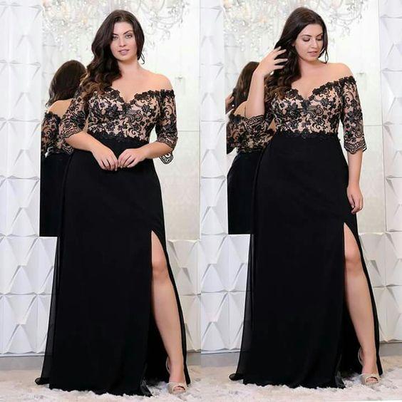Vestido negro corto gorditas
